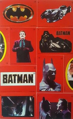 BATMAN  1989 Movie STICKER SET Series 1 Topps