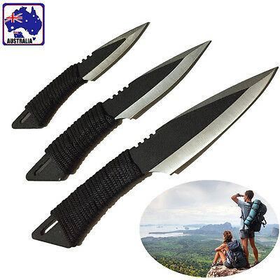 3pcs Survival Knife Hunting Tactical Throwing Dive Dagger Outdoor OKNI32933
