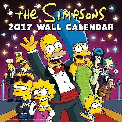 The Simpsons Offical Wall Calendar 2017