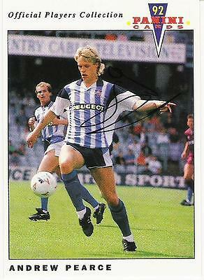 A Panini 92 card featuring & personally signed by Andrew Pearce of Coventry City