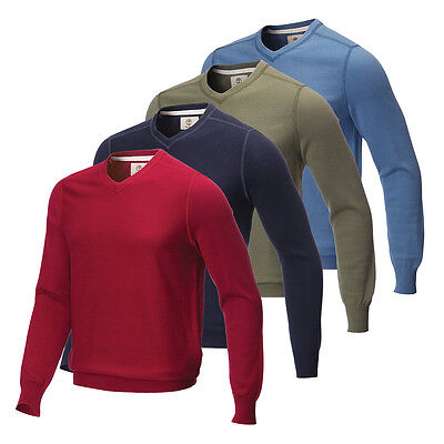 Timberland Mens VNeck Sweater Golf Sports Pullover Jumper Top 63% OFF RRP