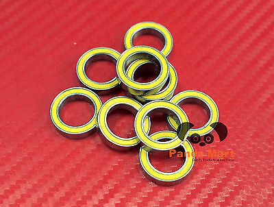 10pcs 6702-2RS (15x21x4 mm) Yellow Rubber Sealed Ball Bearing Bearings 15*21*4