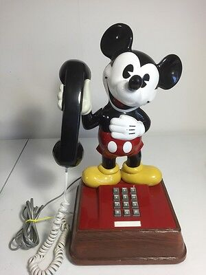 "Vintage Disney Mickey Mouse ""The Mickey Mouse Phone"" !Works!"
