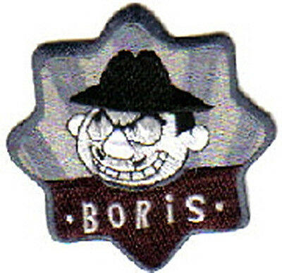 Rocky & Bullwinkle, Boris Face & Name Embroidered Patch