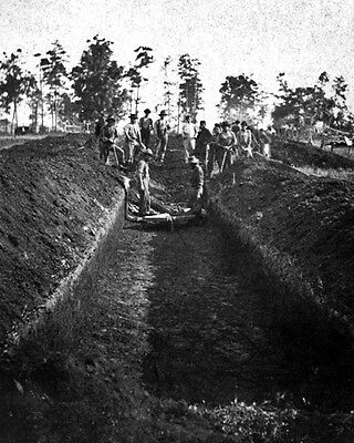 New 11x14 Civil War Photo: Burial of Soldiers at Andersonville Prison, Georgia