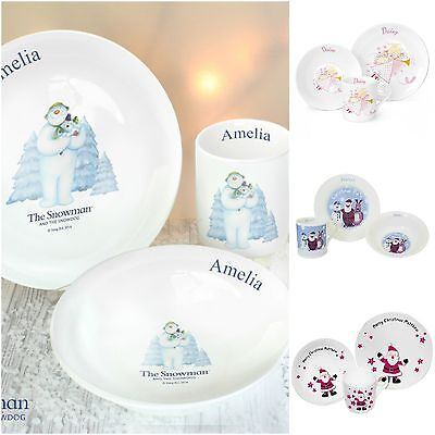 Personalised Christmas Xmas Children's Childs Breakfast Set Gift Present Idea