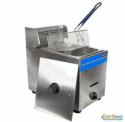 Uniworld 16 lb Stainless Steel Manual Control Deep Fryer Single Basket - LP Gas