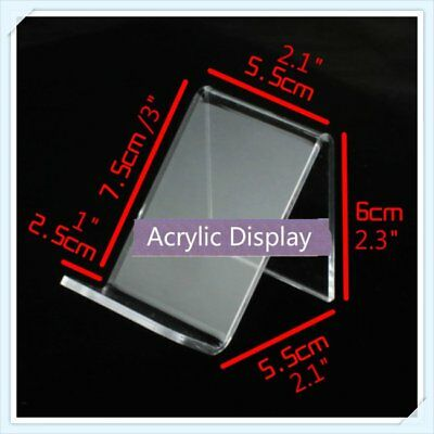 10 Pcs X Acrylic Retail Display Aid Phone Case Wallets Easel Stand Holder