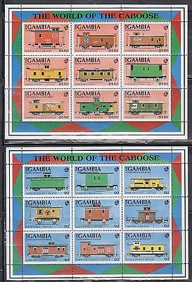 Gambia 1114-16 Trains Mint NH