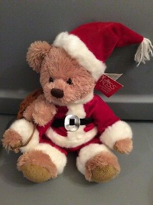 Russ Make Someone Happy Santa Plush Bear