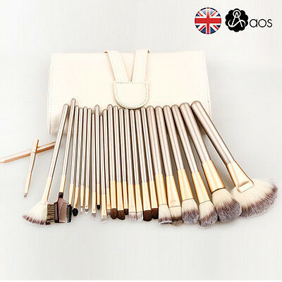 24 Pcs Professional Make Up Brushes Set Foundation Brushes Kabuki Makeup Tool