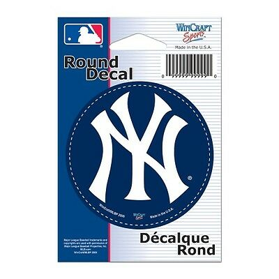 """Wincraft 3""""x3"""" Car Window Cling Decal MLB New York Yankees Round New"""