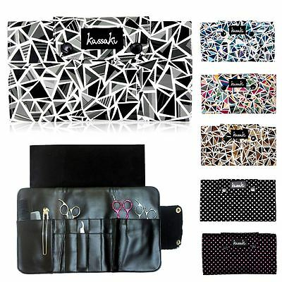 Designer Hairdressing Scissor Case Pouch Holds10 Haircutting Shears Combs Razors