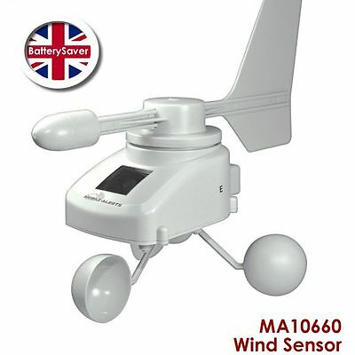 Technoline Mobile-Alerts MA10660 Anemometer - Wind Speed and Direction Sensor