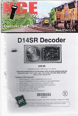 HO Scale NCE D14SR DCC Silent Running 8 Pin Decoder