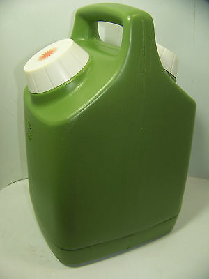 Vintage Green Thermos - Retro Plastic Container Double Sided Hot /Cold -1 Gallon