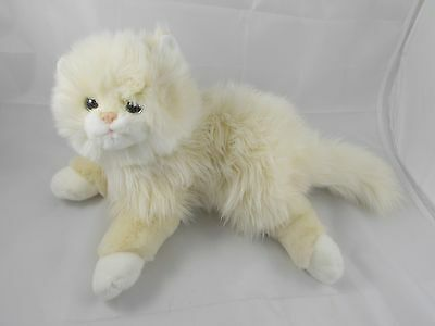 "Ty Cat Plush Cream White 14"" Long 2006"