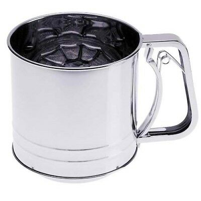 Prepworks by Progressive Triple-Screen Flour Sifter,StainlessSteel-5Cup Capacity