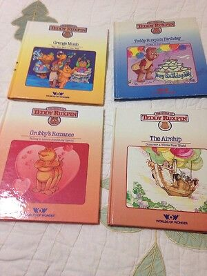 Lot of 4 Teddy Ruxpin Books Only