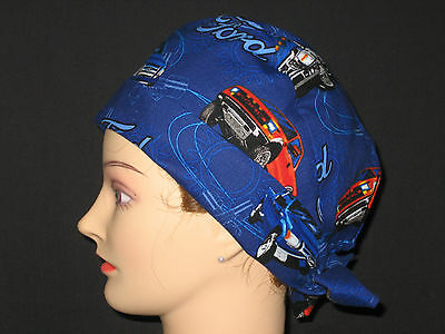 Surgical Scrub Hats/Caps Ford Trucks Navy blue fabric