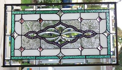 Stained Glass Window Hanging 28 X 15 3/4""