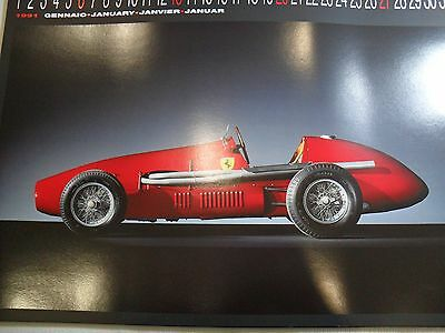 Ferrari Calendar 1991 Limited Edition Rare Numbered One Year Only Beautiful