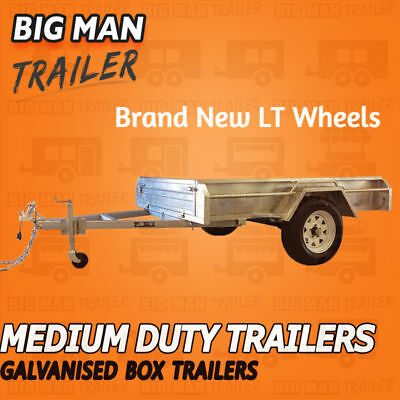 6x4 SINGLE AXLE BOX TRAILER GALVANISED WELD HEAVY DUTY BRAND NEW NO CAGE