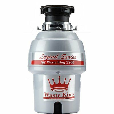 WasteKing Legend Series L-3200 3/4 HP Continuous Feed Operation Garbage Disposer