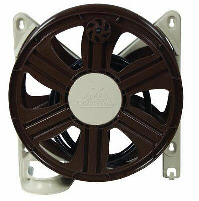 Ames 2388340 ReelEasy Side Mount Hose Reel, 100-Feet Hose, Tan and Brown