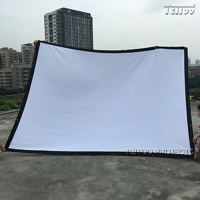 Factory Sale Movie Projector White Fold Projection Screen Curtain 150 Inch 4:3