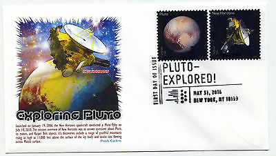 5077-78 Pluto Explored, on one Panda Cachets, FDC Pictorial cancel
