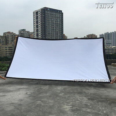Hot Sell TEITOO White Fabric Home HD Projector Screen Curtain Film 180 Inch 16:9