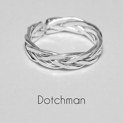 925 Sterling Silver High Grade Intertwined Toe Ring