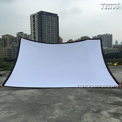 Watch Movie Outsides! Portable Projector Projection Screen Curtain 200 Inch 4:3