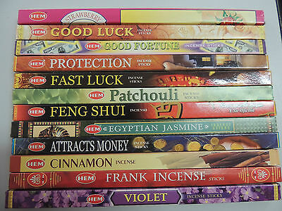 BULK 96 sticks Incense Mix * Wealth * Luck * Protection * 12 boxes * Fresh Stock