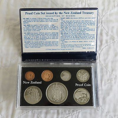 NEW ZEALAND 1976 7 COIN PROOF YEAR SET - complete