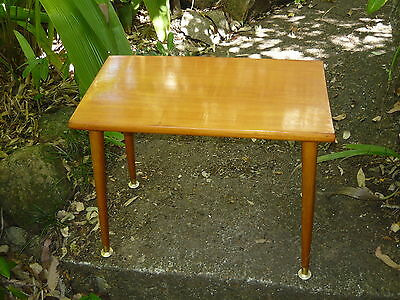 Classic Vintage 60s 70s Timber Side table w/ Retro Tapered Timber Legs #1