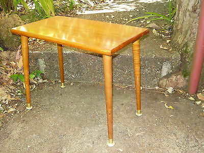 Classic 60s 70s Vintage Solid Timber Side table w/ Retro Tapered Legs #2