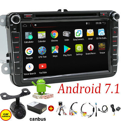 Android Autoradio DVD GPS für VW PASSAT GOLF TIGUAN TOURAN Polo Skoda Caddy SEAT