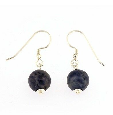 Sodalite Earrings earrings 925 Silver Sodalite Diameter 10 mmm