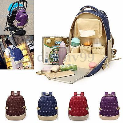 Mother Mummy Diaper Nappy Backpack Newborn Baby Pad Changing Shoulder Bag New