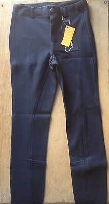 Bridleway Childrens Kids Pull On Jodhpurs Jods Size 24 Navy