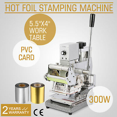 Stamping Machine Hot Foil+2 Foil Paper Leather Embosser Stainless Steel Popular