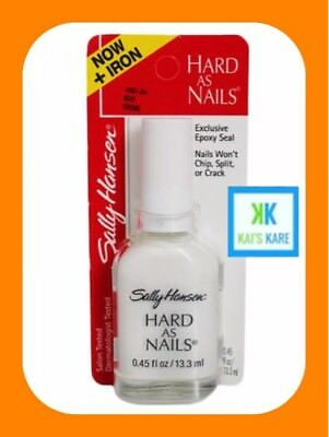 SALLY HANSEN Hard As Nails Boo Crème 13.3ML WHITE - SPECIAL PRICE QUICK POSTAGE!