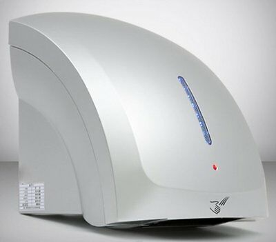 T1800S SILVER BLUE Electric Auto Automatic Warm or Cold ECO Air Hand Dryer drier