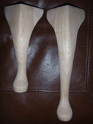 """9"""" Queen Anne HARD WOOD LEGS~ footstools, furniture, tables, chairs~(Sets of 4)"""