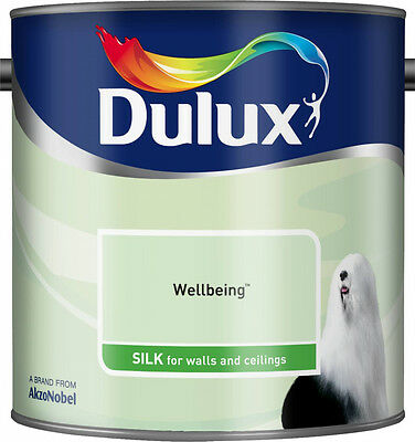 Dulux Smooth Creamy Silk Emulsion Paint Wellbeing Green  2.5L Walls and Ceiling