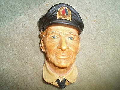 Vintage Retro Bosson Wall Mask SEA CAPTAIN RETIRED 1972 Congleton England