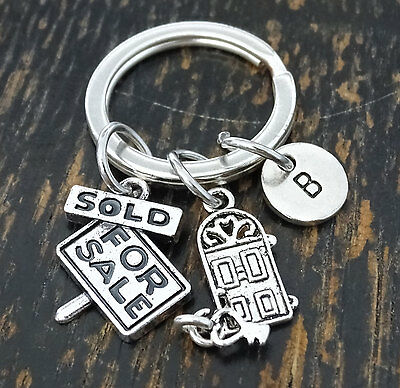 Real Estate Agent Keychain, Realtor Gift, Remax, Real Estate Gift, PERSONALIZED