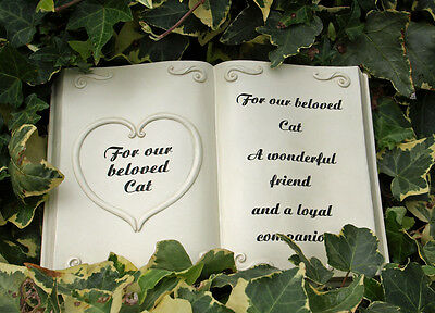 Cat Grave Memorial Stone Marker Funeral Garden 23 cm For Our Beloved Pet New